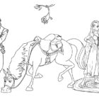 rapunzel coloring pages 16 140x140 Rapunzel Coloring Pages