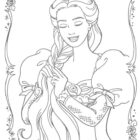 rapunzel coloring pages 20 140x140 Rapunzel Coloring Pages