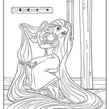 Rapunzel Coloring Pages 22