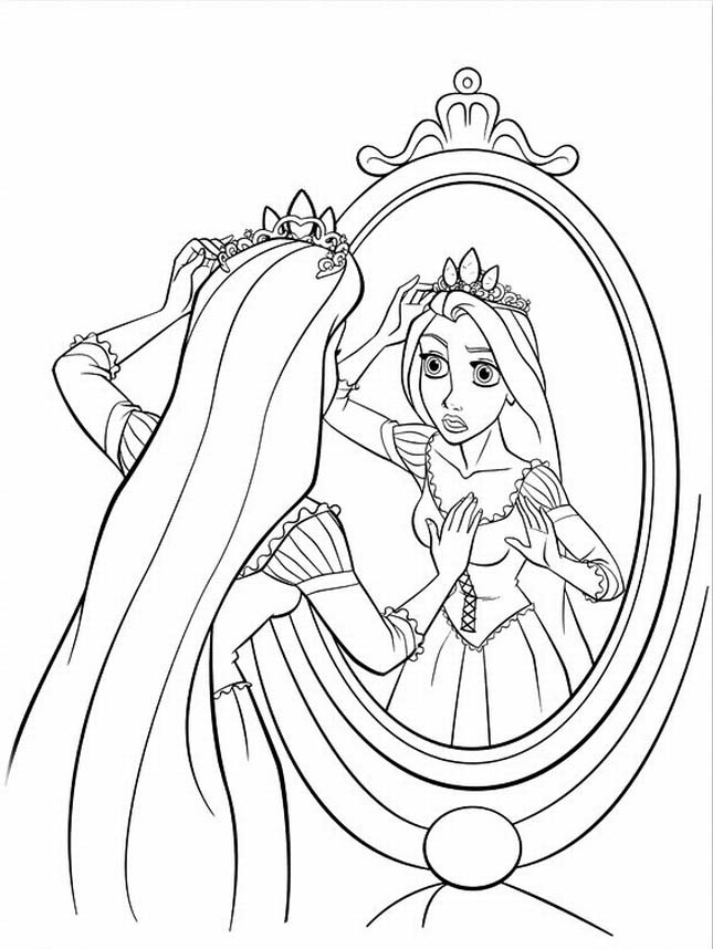 download rapunzel coloring pages 3 - Tangled Coloring Pages Girls