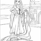 rapunzel coloring pages 6 140x140 Rapunzel Coloring Pages