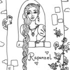 rapunzel coloring pages 8 140x140 Rapunzel Coloring Pages