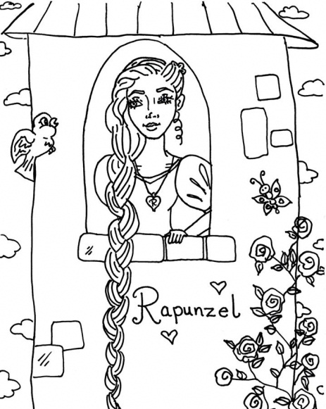 download rapunzel coloring pages 8 print