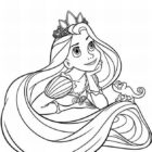 rapunzel coloring pages 9 140x140 Rapunzel Coloring Pages