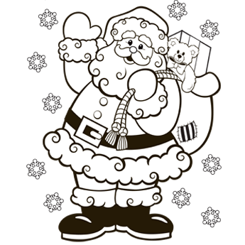Santa Coloring Pages (1)