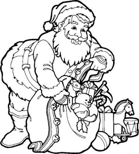 Santa Coloring Pages (14)
