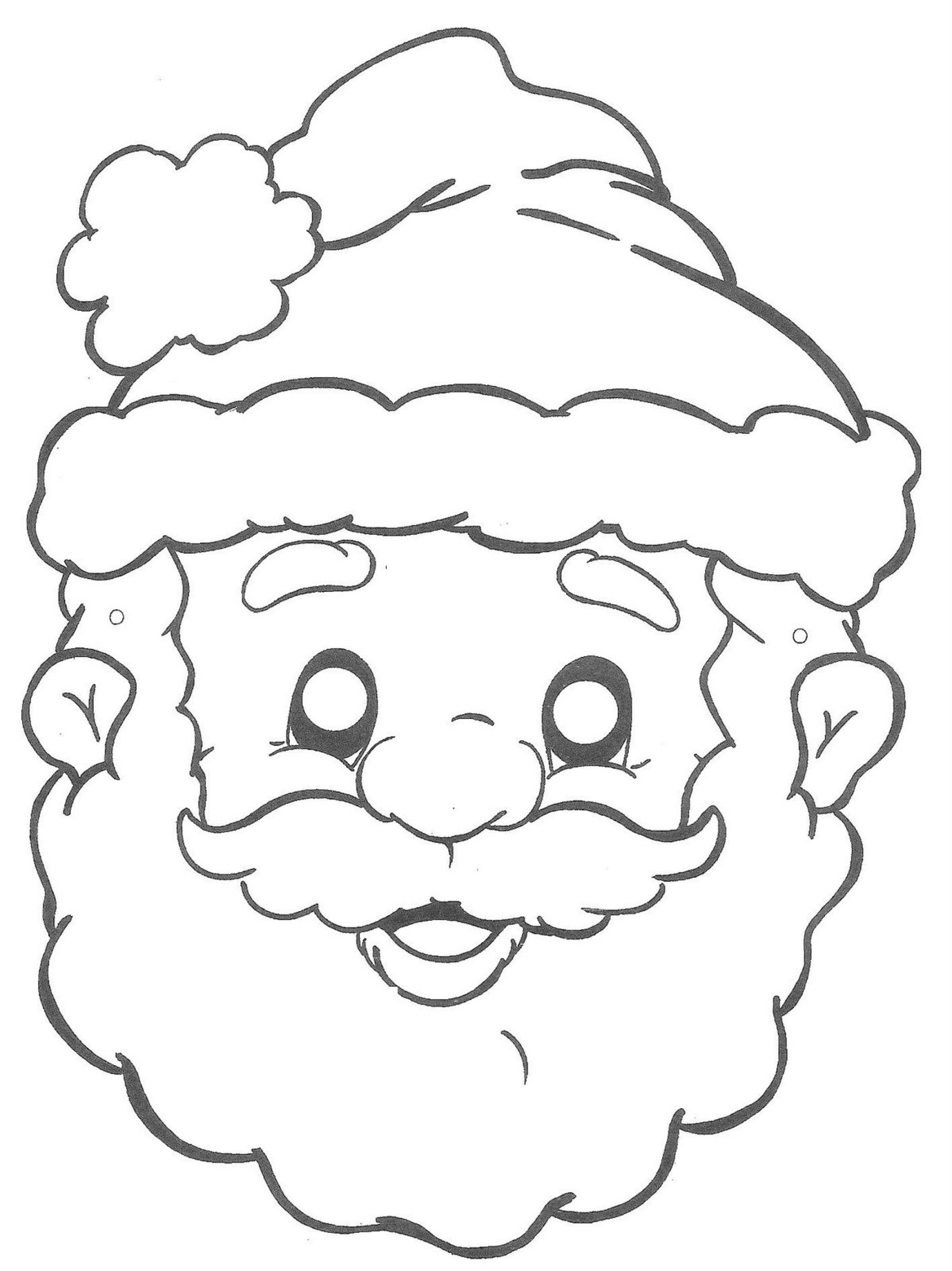 Santa Coloring Pages (17)