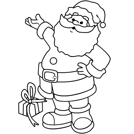 Santa coloring pages 2 coloring kids for Santa claus coloring pages online