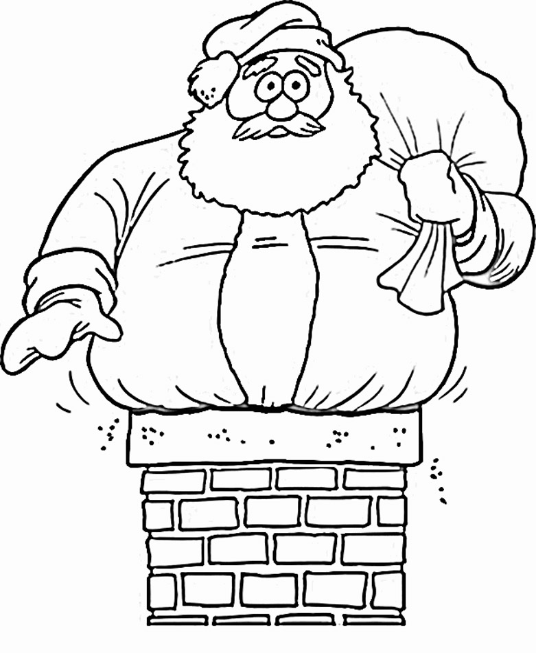 Download Santa Coloring Pages 24