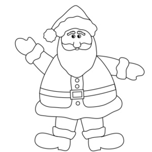 download santa coloring pages 27