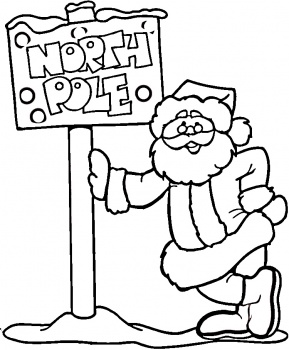 Santa Coloring Pages 4 Coloring Kids