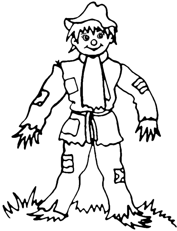 8x11 girl scarecrow coloring pages | Scarecrow-Coloring-Pages halloween | Coloring Kids