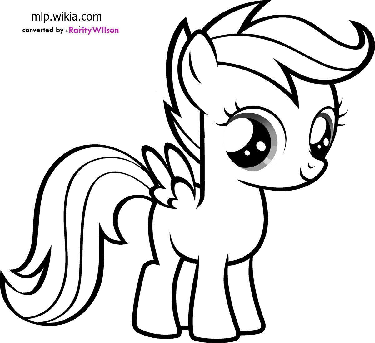 download scootaloo coloring pages coloring99com - Colouring For Kids