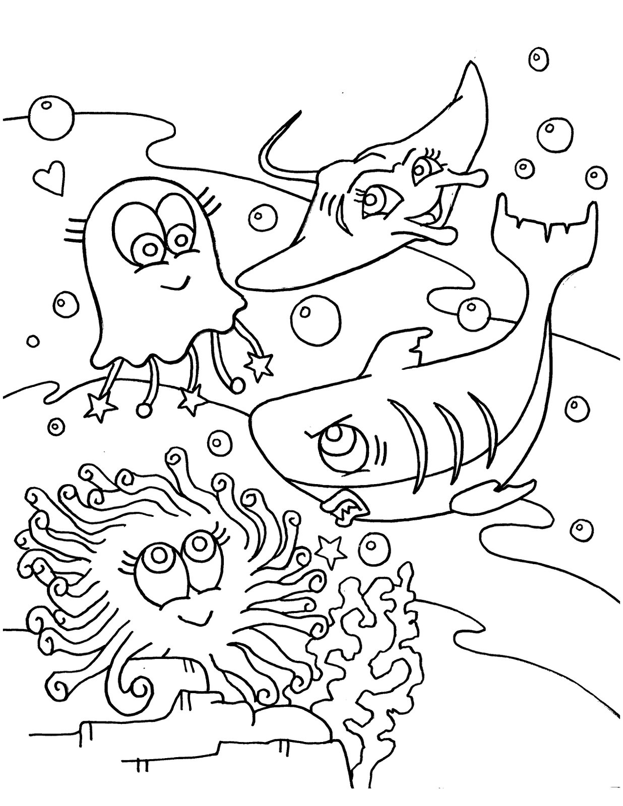 Shark Coloring Pages 2 Coloring Kids