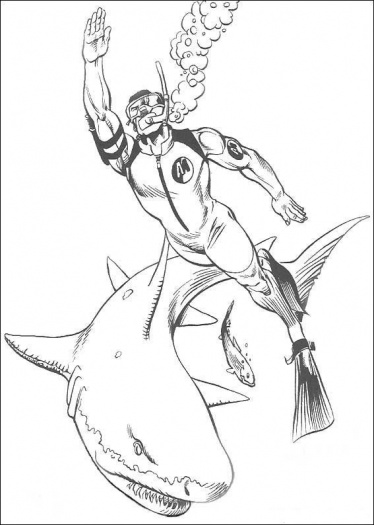 Shark Coloring Pages 6  Coloring Kids