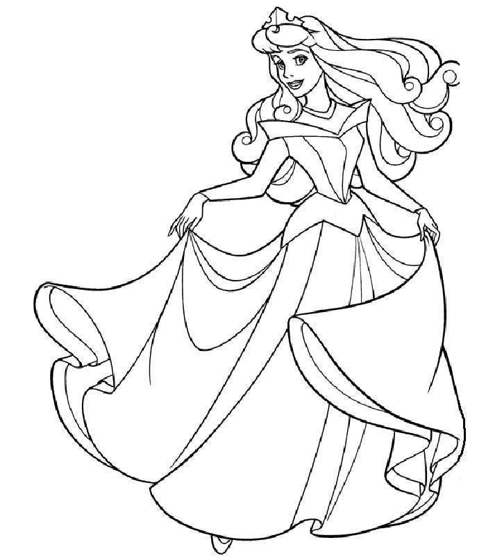 Download Sleeping Beauty Coloring Pages 2