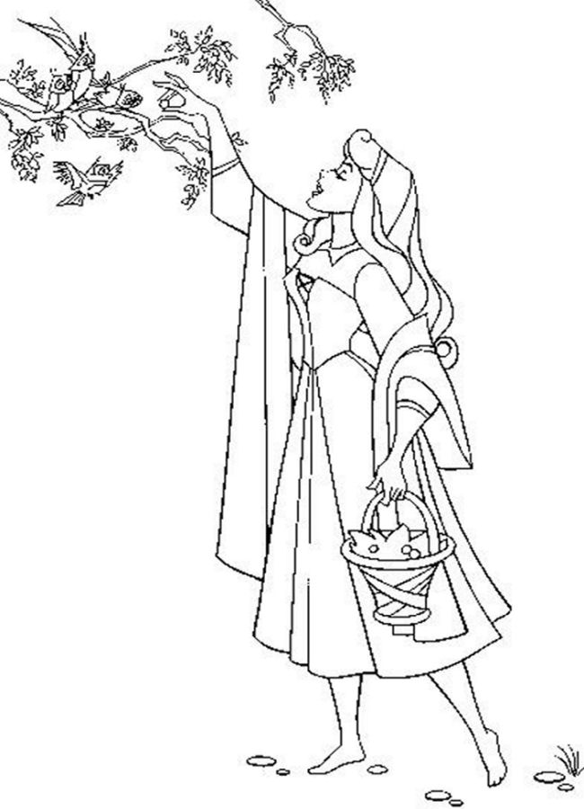 download sleeping beauty coloring pages - Sleeping Beauty Coloring Pages