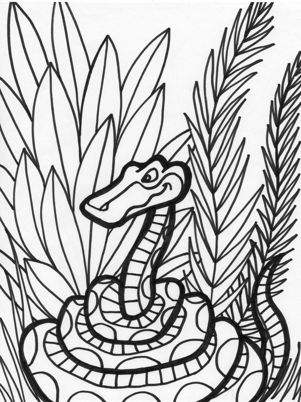 snake coloring pages 11 coloring kids