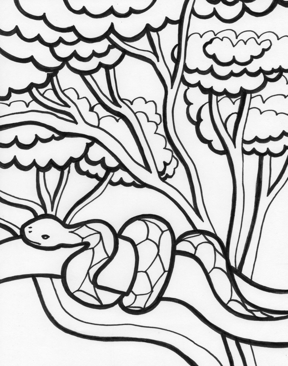 snake coloring pages 14 coloring kids