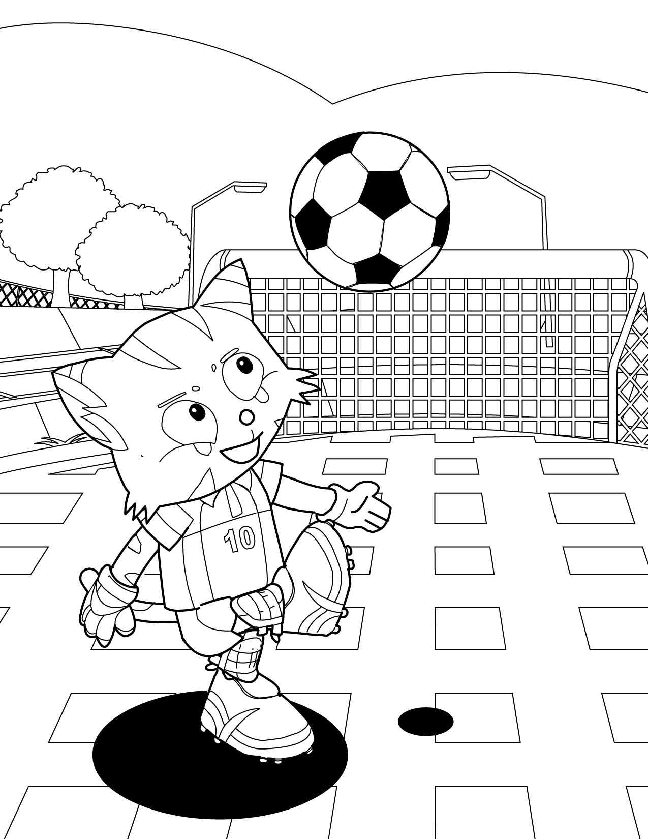 Soccer Coloring Pages (4) | Coloring Kids