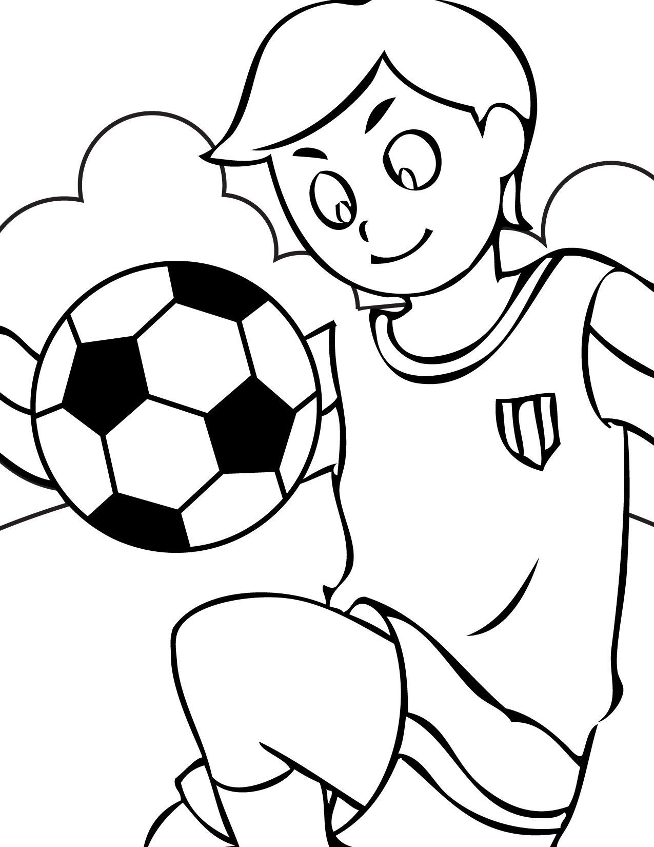 Coloring Pages For Youth : Soccer coloring pages kids