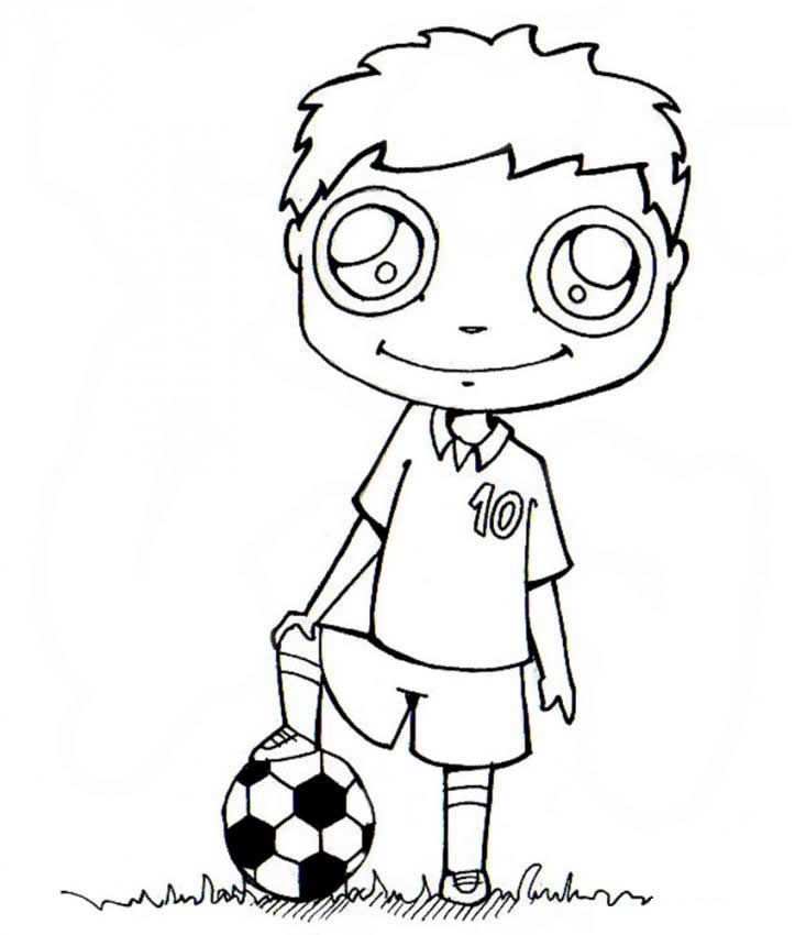 Soccer Coloring Pages (6) | Coloring Kids