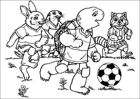 Download Soccer Coloring Pages 7 Print