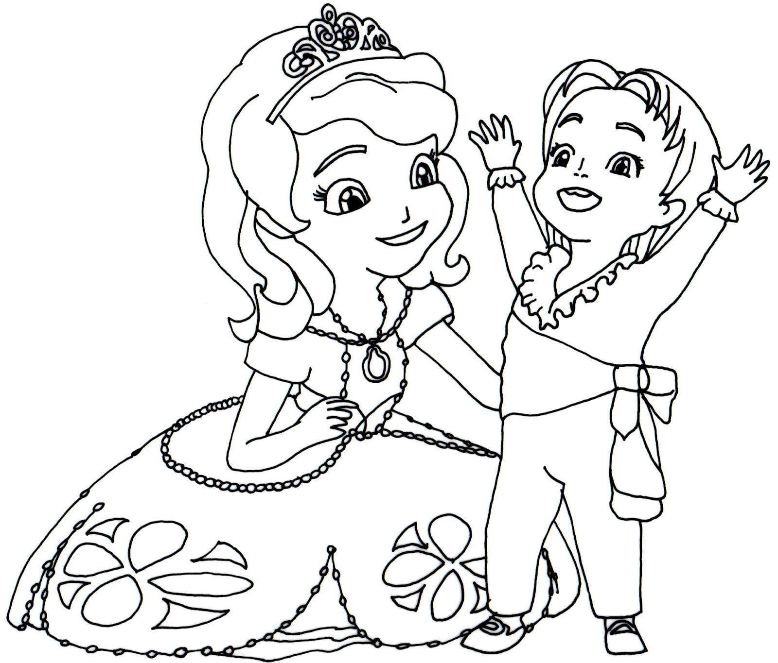 download sofia the first coloring 1 - Sofia Coloring Pages