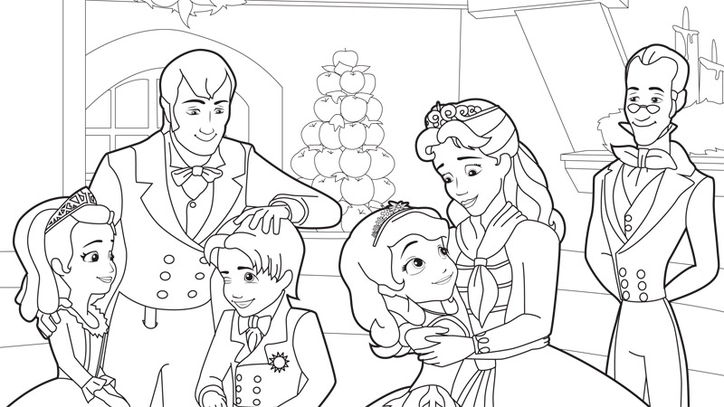 sofia the first coloring 2 coloring kids