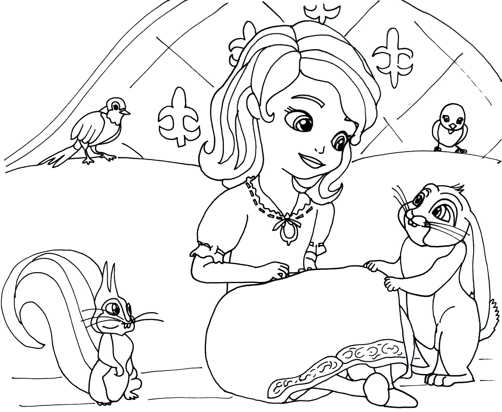 sofia the first coloring page 1 Coloring Kids