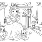 Sofia The First Picture Coloring Page -