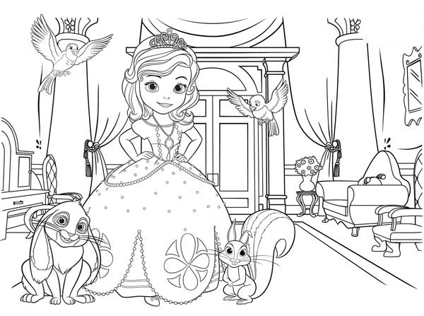 sofia the first picture coloring page coloring kids