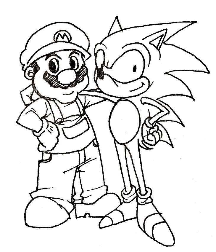 Sonic Coloring Pages 3 Coloring