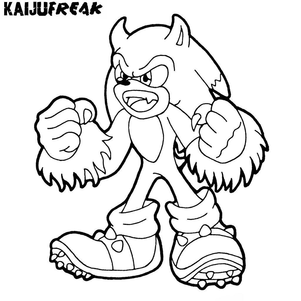 I Am The Sonic Coloring Pages