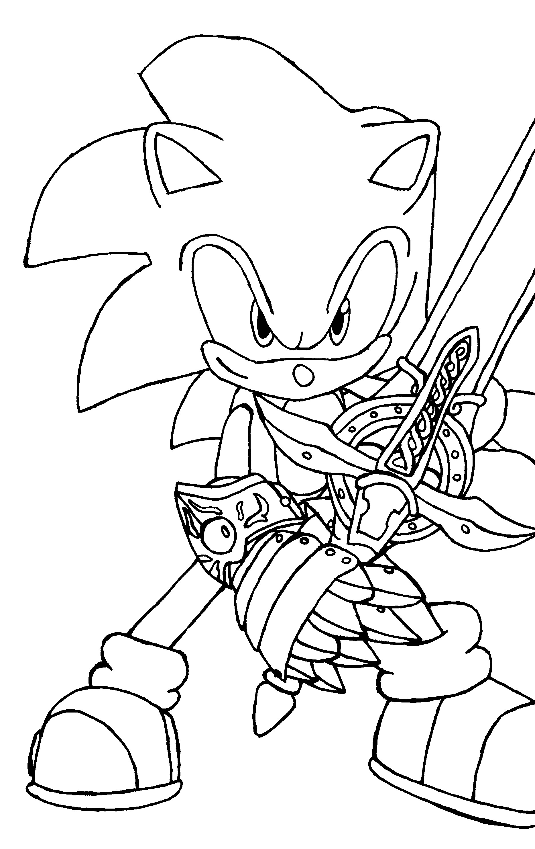 Sonic Coloring Page Sonic Coloring Pages 5  Coloring Kids