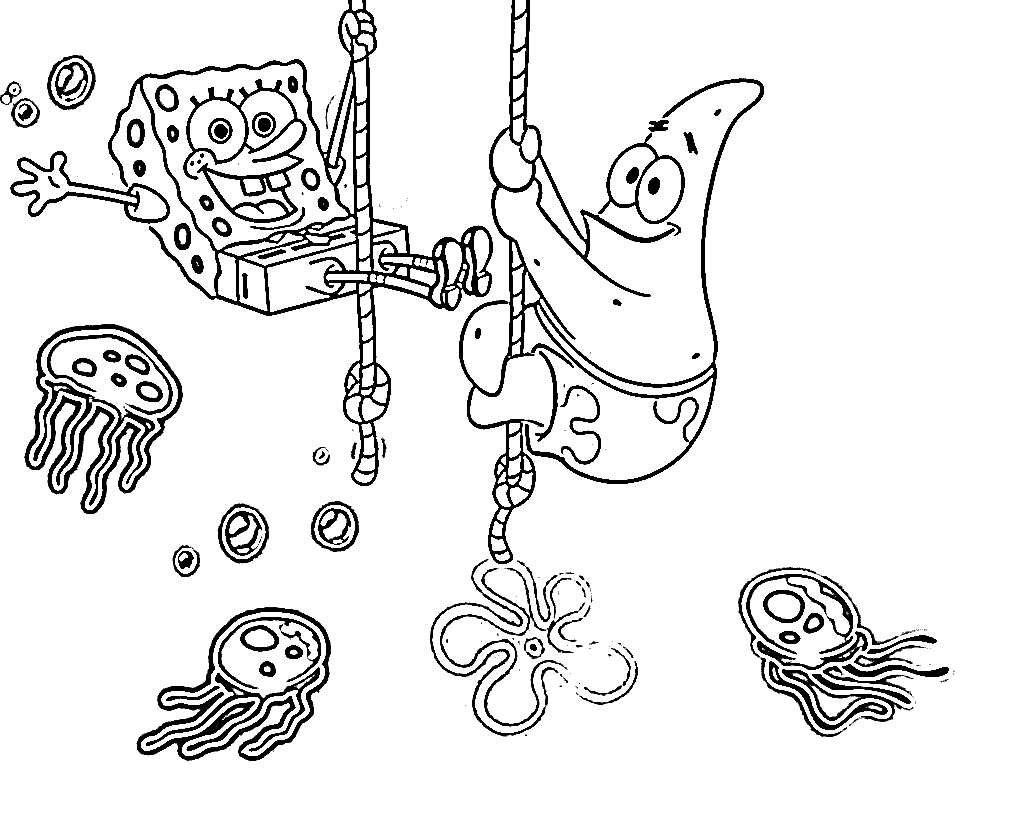 Printable coloring pages spongebob - Download Spongebob Coloring Pages 9