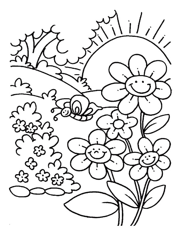 Download Spring Coloring Pages 06 Print