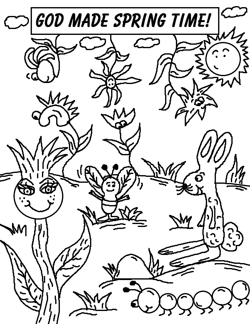 Spring Coloring Pages | Coloring Kids