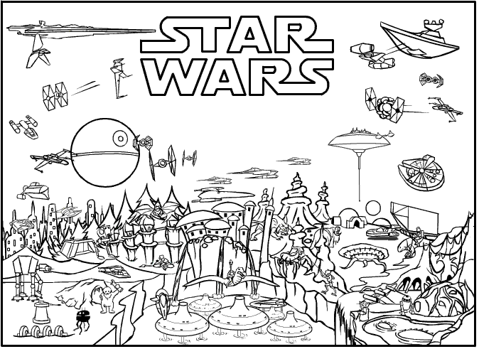 Star Wars 3 Coloring Pages  Free Printable Coloring Pages
