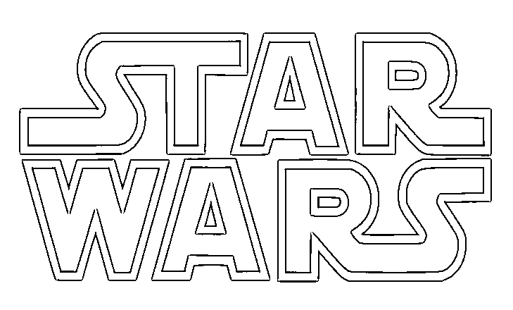 STAR WARS LOGO Coloring Kids