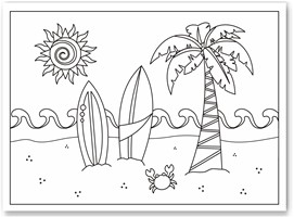 Download Summer Coloring Pages 2