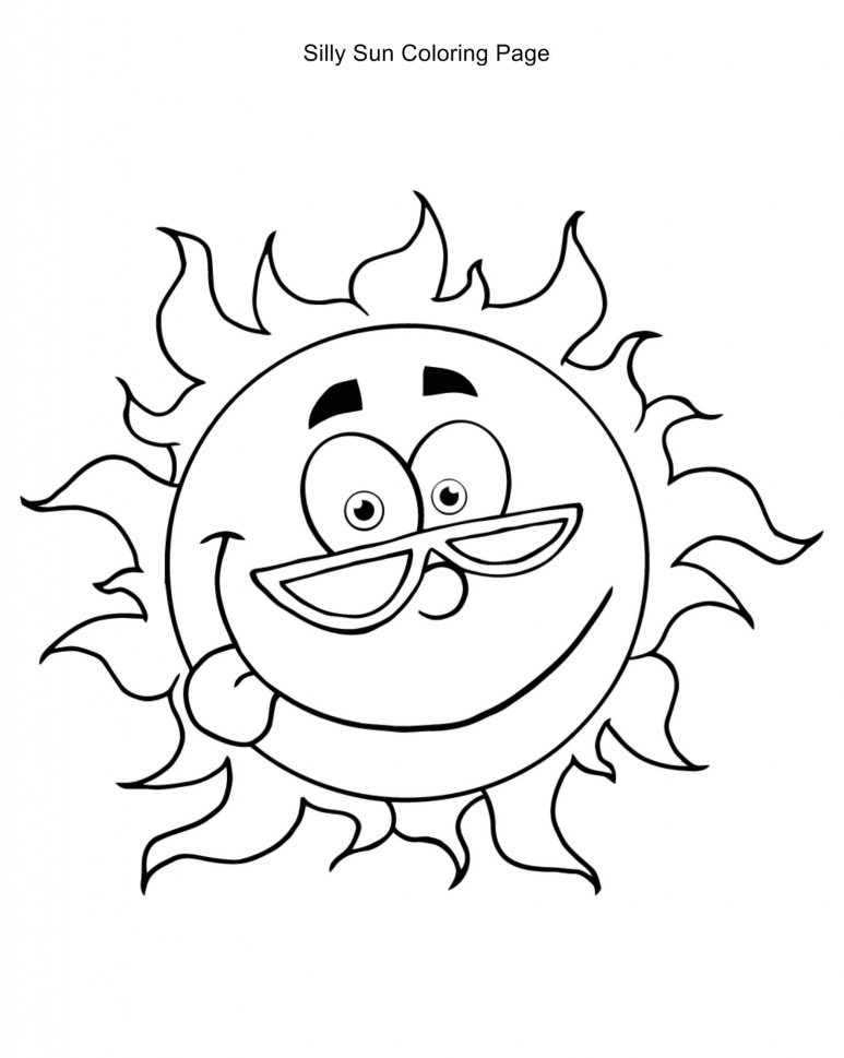 download sun coloring pages 2 - Sun Coloring Page