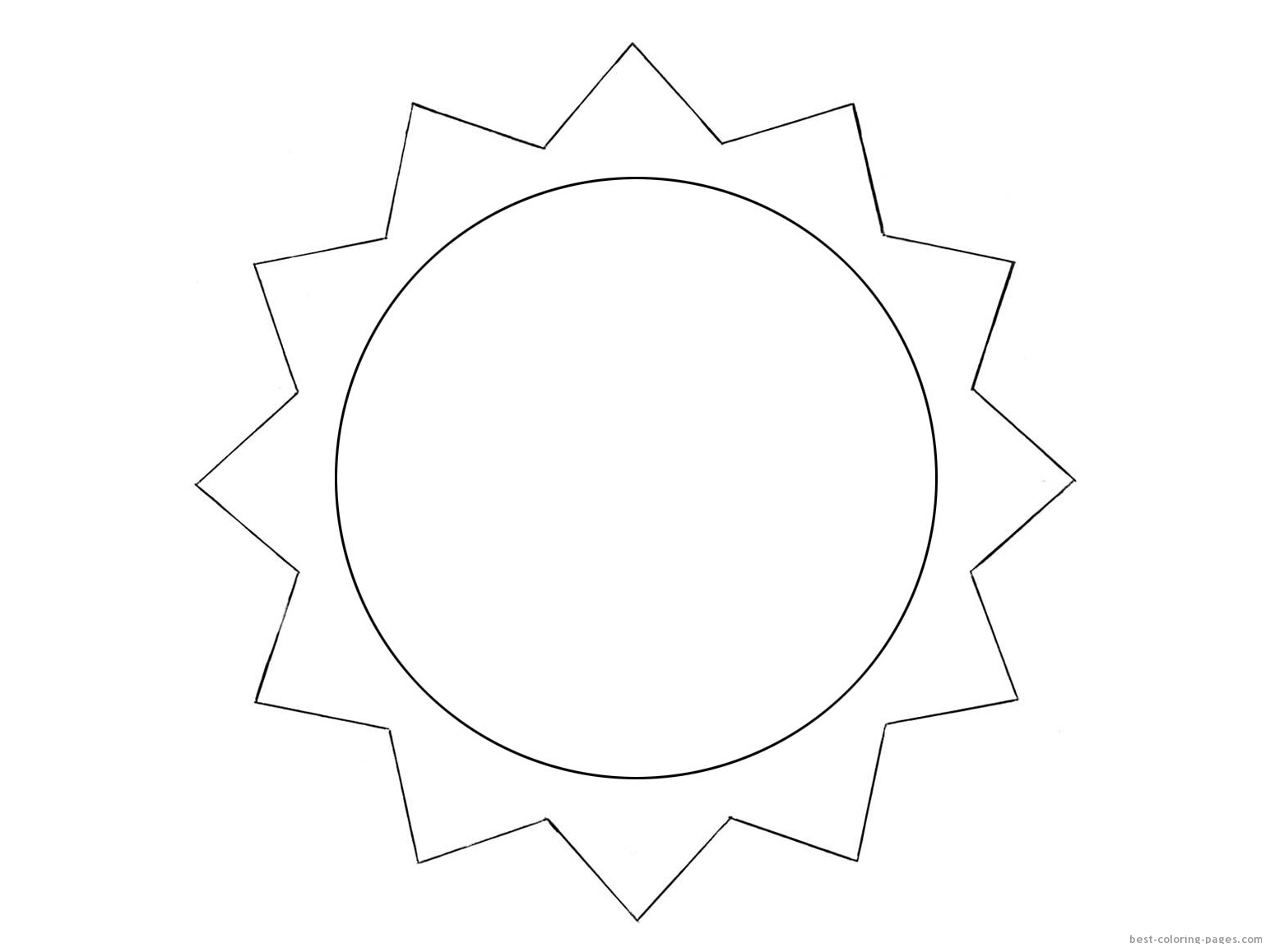 Happy Sun Face Coloring Template Coloring Pages