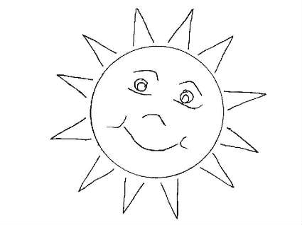 Sun Coloring Pages (6) - Coloring Kids