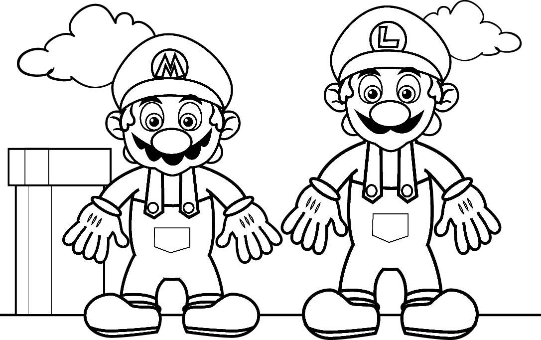 download super mario coloring pages 1 - Color Pages