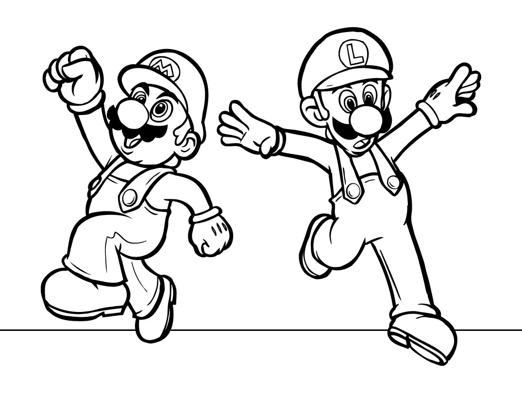 download super mario coloring pages 10 - Mario Kart Coloring Pages