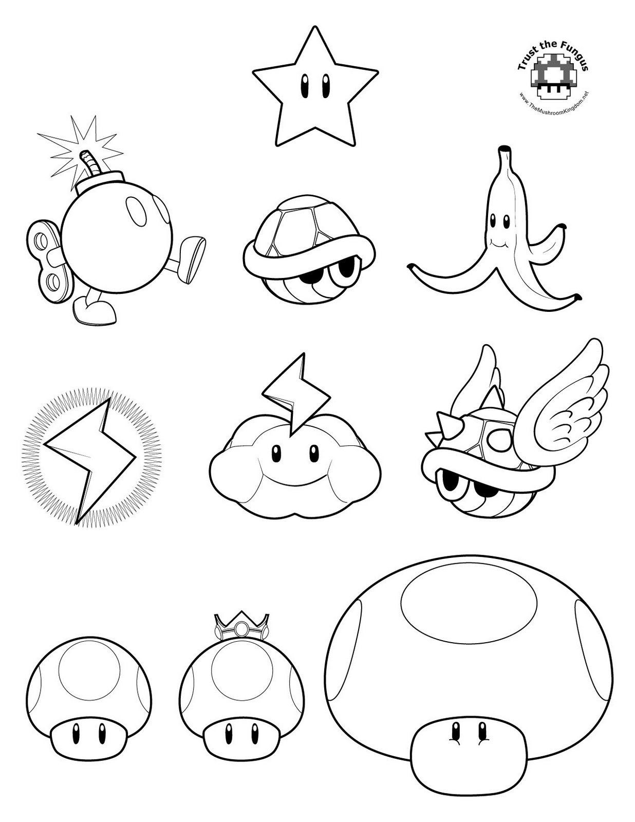Mario Kart Coloring Pages Super Mario Coloring Pages 12  Coloring Kids