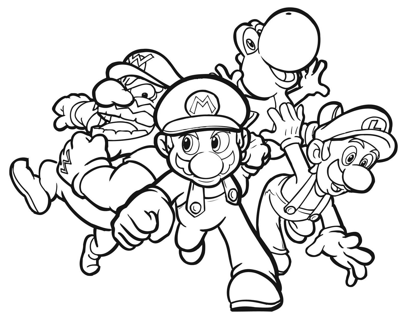 download super mario coloring pages 5 - Mario Kart Coloring Pages