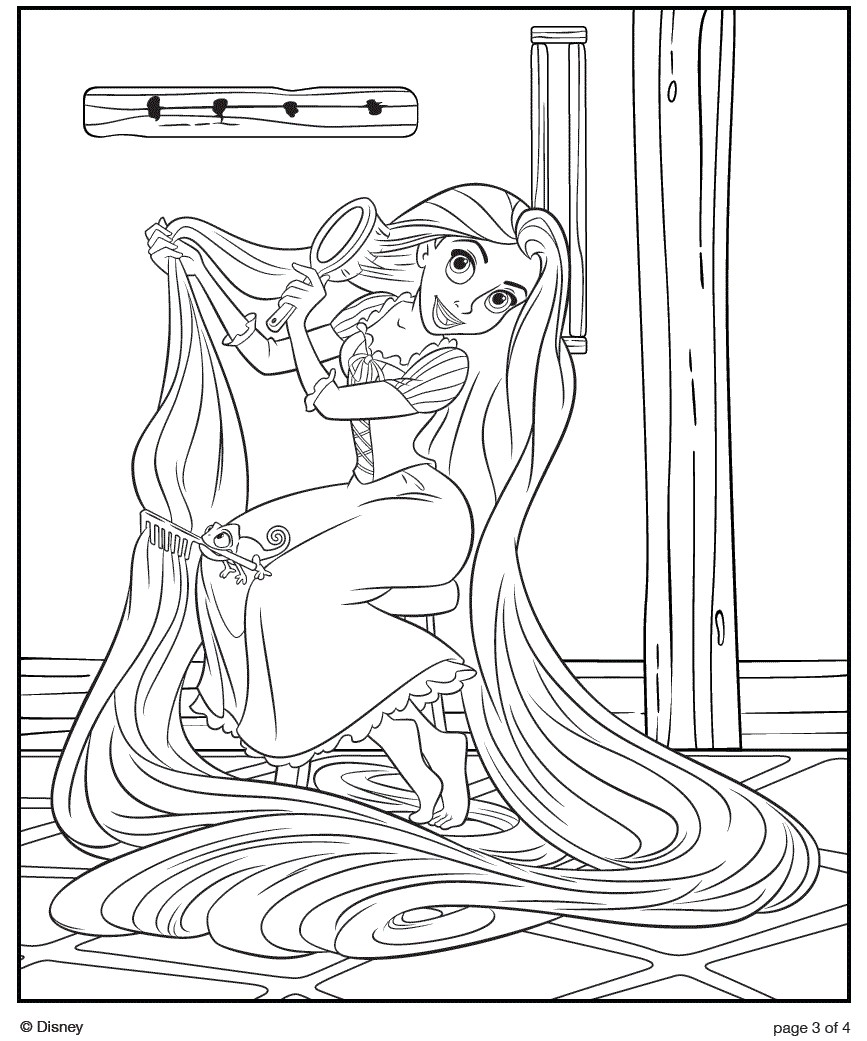 Printable coloring pages tangled - Download Tangled Coloring Pages 11