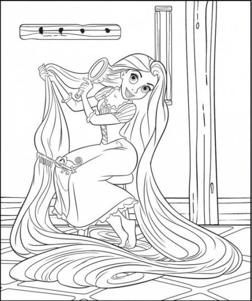download tangled coloring pages 13 - Tangled Coloring Pages